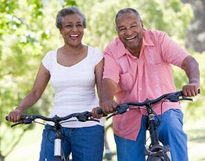 Older couple enjoying life