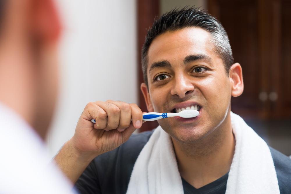 Man Brushing