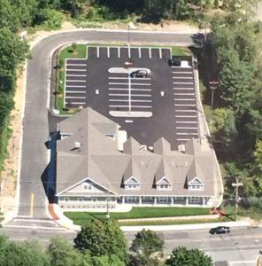 An overhead view of Tewksbury Dental Associates.